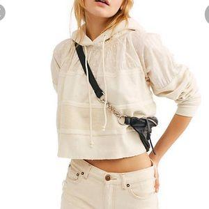 Free People Piper Long Sleeve Pullover Ecru Top